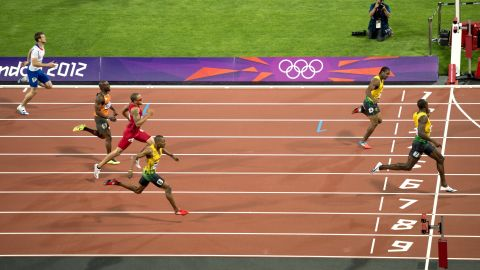 The Jamaican added a fifth gold to his haul with victory in the 200m final, finishing ahead of fellow countrymen Blake and Warren Weir.
