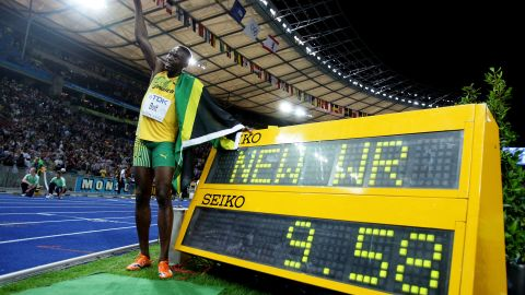 A year later, Bolt went on to set the current 100m world record, recording a time of 9.58s at the World Athletics Championships in Berlin.
