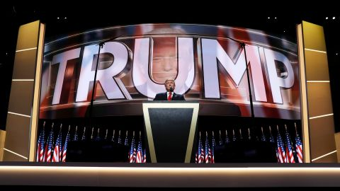 """Trump delivers a speech at the Republican National Convention in July, accepting the party's nomination for President. """"I have had a truly great life in business,"""" he said. """"But now, my sole and exclusive mission is to go to work for our country -- to go to work for you. It's time to deliver a victory for the American people."""""""