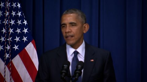 President Obama gives a statement following the Munich shooting spree