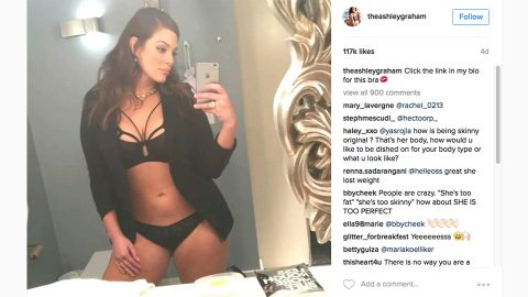 Some fans have criticized plus-size model Ashley Graham for losing weight after she posted new images on her Instagram account in July.