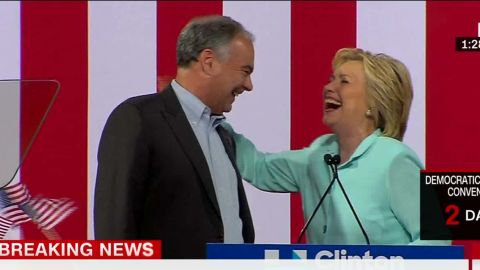 Hillary Clinton Tim Kaine Introduction vice president sot nr_00001617.jpg
