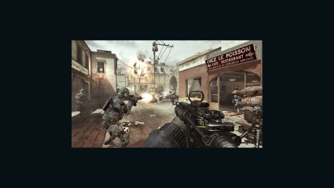 """The """"Call of Duty"""" series has long faced controversy for its depictions of war.  Pictured: An image from the upcoming installment in the series """"Call of Duty: Modern Warfare 3"""""""