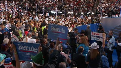 dnc convention bernie sanders supporters unify with hillary clinton bts_00003804.jpg