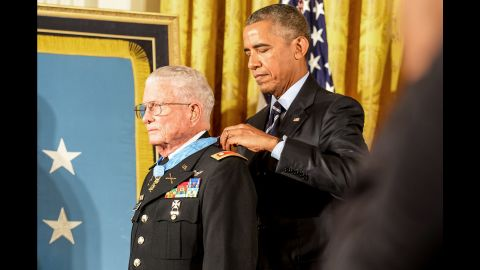 """U.S. President Barack Obama awards the Medal of Honor to retired Army Lt. Col. Charles Kettles on Monday, July 18. Kettles, now 86, is credited with <a href=""""http://www.cnn.com/2016/07/18/politics/medal-of-honor-recipient-charles-kettles-vietnam-war-helicopter-commander/"""" target=""""_blank"""">saving the lives of 40 soldiers during the Vietnam War.</a>"""