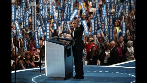 """Obama said Clinton is more ready than he was to become President. """"For four years, I had a front-row seat to her intelligence, her judgment and her discipline,"""" Obama said, referring to her stint as secretary of state."""