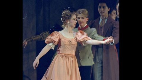 """Chelsea, 13, rehearses in December 1993 before performing in the Washington Ballet's holiday production of """"Nutcracker."""""""