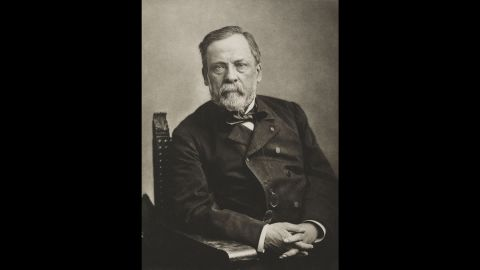 The first anthrax vaccine is alternately credited to Koch's French contemporaries Louis Pasteur, seen here, and Jean Joseph Henri Toussaint.
