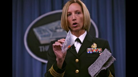 In June 2015, the Pentagon announced that the Defense Department may have accidentally shipped live anthrax samples to 86 labs in 20 states, the District of Columbia and seven foreign countries. There were no infections as a result of the shipments. Cmdr. Franca Jones, director of medical programs for chemical and biological defense, demonstrates the protocol for shipping anthrax samples.