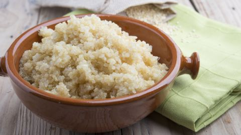 People trying to cut back on meat might try quinoa as a source of plant-based protein.