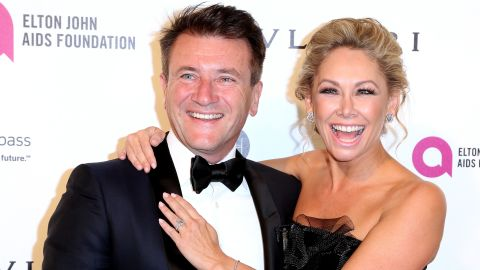 """""""Shark Tank"""" star Robert Herjavec married his former """"Dancing With The Stars"""" partner, Kym Johnson, 39, on July 31 in Los Angeles."""