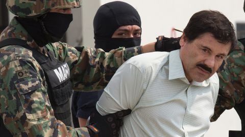 """Mexican drug lord Joaquin """"El Chapo"""" Guzman <a href=""""http://www.cnn.com/2017/01/19/us/el-chapo-guzman-turned-over-to-us/index.html"""" target=""""_blank"""">has been extradited to the United States</a>, where he faces six indictments."""