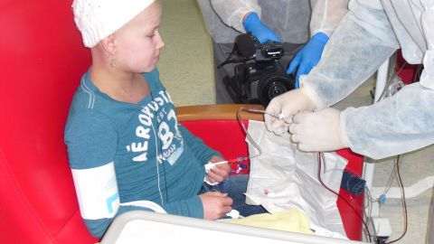 Kate endured several rounds of chemo after being diagnosed with acute myeloid leukemia.