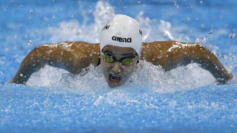 """Yusra Mardini, a swimmer for the Refugee Olympic team, competes in a 100-meter butterfly heat on Saturday, August 6. The Syrian native and her teammates have had a <a href=""""http://edition.cnn.com/2016/08/06/sport/rio-2016-refugee-team-olympics-syria/"""" target=""""_blank"""">remarkable journey to the Games</a>."""