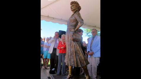 The new Lucy statue in Celoron, NY.