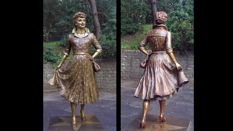 "The new Lucy statue is ""beautiful,"" Celoron Mayor Scott Schrecengost says."