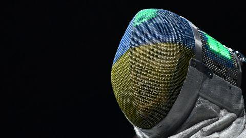 Ukrainian fencer Olena Krav
