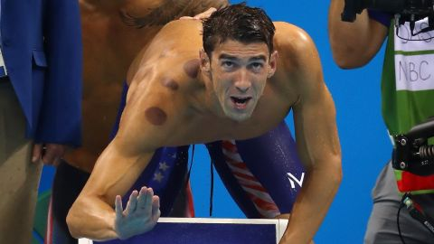 RIO DE JANEIRO, BRAZIL - AUGUST 07:  Michael Phelps of the United States reacts in the Final of the Men's 4 x 100m Freestyle Relay on Day 2 of the Rio 2016 Olympic Games at the Olympic Aquatics Stadium on August 7, 2016 in Rio de Janeiro, Brazil.  (Photo by Ryan Pierse/Getty Images)
