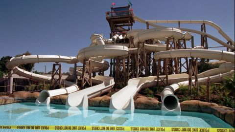 """A group of high-schoolers' pre-graduation outing turned into a <a href=""""http://edition.cnn.com/US/9706/03/water.slide/"""">nightmare</a> when a water slide collapsed at Waterworld California in 1997. The accident injured at least 30 people and killed a teenage girl. The girl's family settled a lawsuit against Waterworld USA and its parent company Premier Parks Inc. for $1.7 million three years later, according to the <a href=""""http://articles.latimes.com/2000/may/13/business/fi-29658"""" target=""""_blank"""" target=""""_blank"""">Los Angeles Times</a>."""