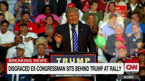 ex congressman sits behind trump at rally berman sot ac_00005103.jpg