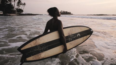 """At 19-years-old she has become the focus of new documentary short """"A Million Waves"""" by British filmmakers Daniel Ali and Louis Leeson, capturing her life and passion for surfing."""