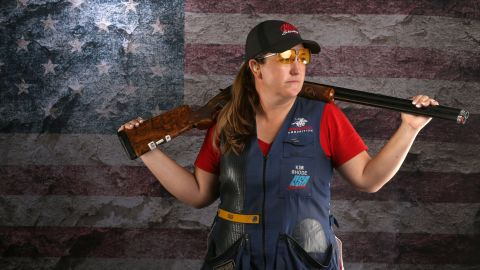 Shooter Kim Rhode poses for a portrait at the 2016 Team USA Media Summit at The Beverly Hilton Hotel on March 8, 2016 in Beverly Hills, California.
