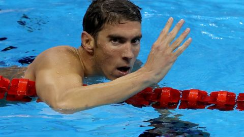 RIO DE JANEIRO, BRAZIL - AUGUST 11:  Michael Phelps of the United States celebrates winning the Men's 200m Individual Medley Final on Day 6 of the Rio 2016 Olympic Games at the Olympic Aquatics Stadium on August 11, 2016 in Rio de Janeiro, Brazil.  (Photo by Al Bello/Getty Images)