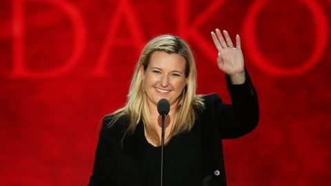 Olympian Kim Rhode addresses the Republican National Convention on August 30, 2012 in Tampa, Florida.