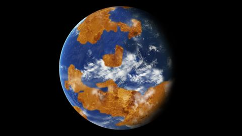 Research suggests Venus may have had water oceans billions of years ago. A land-ocean pattern was used in a climate model to show how storm clouds could have shielded ancient Venus from strong sunlight and made the planet habitable.
