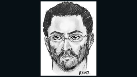 Sketch of suspect wanted in killing of Imam Maulama Akonjee, 55.