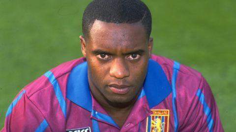 Dalian Atkinson, pictured in his Aston Villa kit in 1993.