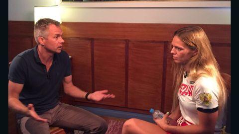 CNN's Nick Paton Walsh sits down with Russian swimmer Yulia Efimova.