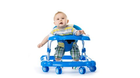 """The American Academy of Pediatrics has <a href=""""https://www.healthychildren.org/English/safety-prevention/at-home/Pages/Baby-Walkers-A-Dangerous-Choice.aspx"""" target=""""_blank"""" target=""""_blank"""">called for a ban on the manufacture and sale of baby walkers</a> with wheels because children can roll down stairs and become injured. They can also roll into pools or other water and get closer to items that will burn or poison them."""