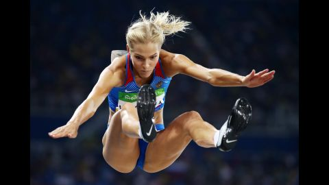 """Darya Klishina -- <a href=""""http://www.cnn.com/2016/08/16/sport/darya-klishina-russia-rio-2016/"""" target=""""_blank"""">the only Russian track-and-field athlete allowed to compete in Rio</a> -- finished ninth in the long jump."""