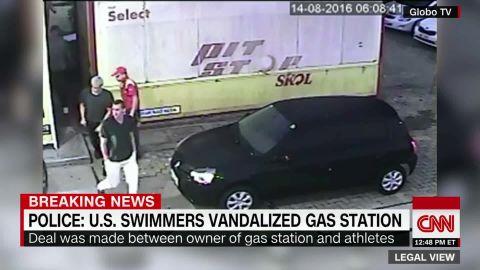 us swimmer rio gas station video _00013705.jpg