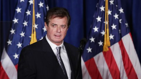 Paul Manafort, then an advisor to Republican presidential candidate Donald Trump's campaign, in May 2016.