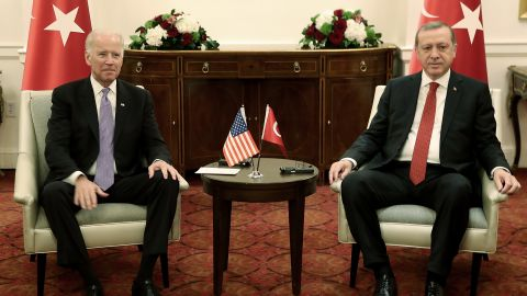 US Vice President Joe Biden will meet Turkish President Recep Tayyip Erdogan later this month.