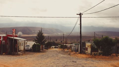 """The network of alarms is governed by a """"mother"""" device connected to the internet. """"The moment the network is triggered the mother device communicates via SIM card technology to take the GPS coordinates of where the fire took place,"""" said Lumkani co-founder and managing director David Gluckman. Pictured, the township of Khayelitsha."""