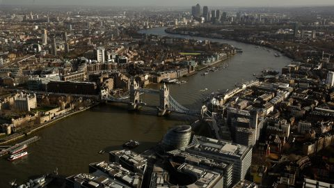 """London's skyscrapers compete with iconic buildings such as Tower Bridge in the most beloved building polls. """"Buildings gain importance and lose importance,"""" says Annie Hampson, current City of London planning officer, """"One has to accept that views do change""""."""