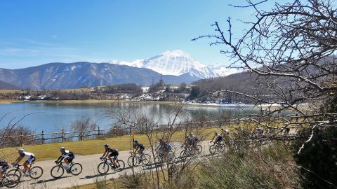 The Ti Tirreno Adriatico cycle race goes through picturesque Amatrice.