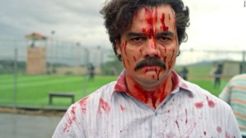 """Wagner Moura as Pablo Escobar in the Netflix series """"Narcos"""""""