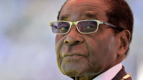 """Robert Mugabe is sworn in for his seventh term as Zimbabwe's President in August 2013. <a href=""""http://www.cnn.com/2017/11/21/africa/robert-mugabe-resigns-zimbabwe-president/index.html"""" target=""""_blank"""">He resigned</a> in November 2017 after nearly four decades in power."""