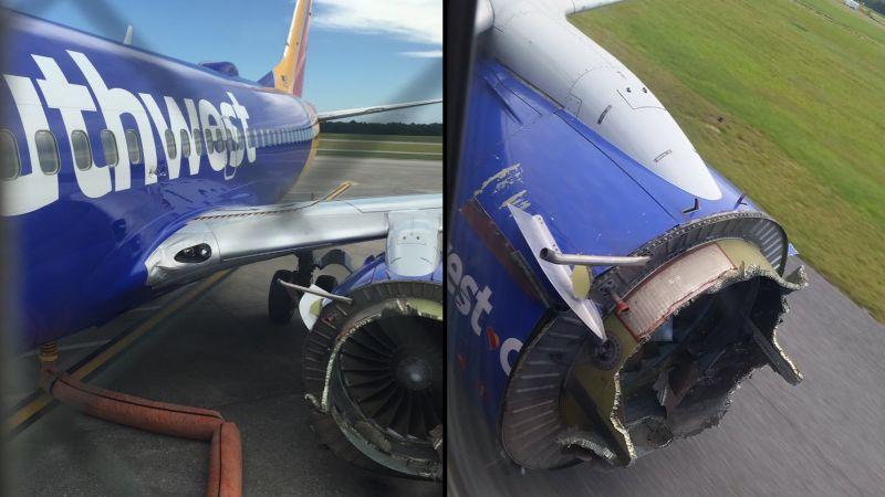 Southwest flight makes emergency landing after engine fails | CNN