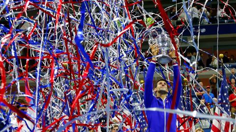 If you do make it to the top, the financial rewards in tennis are huge. World No. 1 Novak Djokovic, seen here celebrating last year's win at the US Open, became the first tennis player to earn more than $100 million in prize money earlier this year.