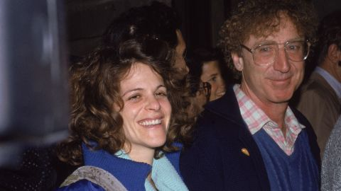 Gene Wilder and his wife Gilda Radner attend the premiere of the film, 'Hannah And Her Sisters,' 1986.