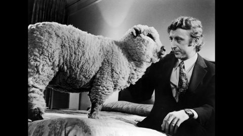 """Wilder sits next to a sheep in Woody Allen's 1972 film """"Everything You Always Wanted to Know About Sex* (*But Were Afraid to Ask)."""""""