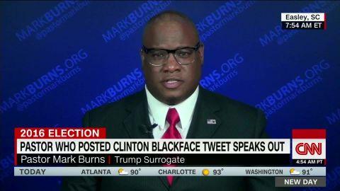 pastor mark burns clinton blackface tweet newday_00012617.jpg