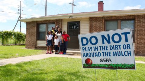 High lead levels were found in the Allen family's yard in the West Calumet Complex in East Chicago.