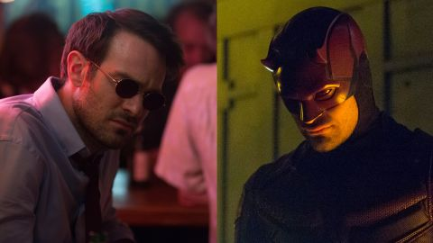 """Known as """"the man without fear,"""" Matt Murdock lost his sight as a young child in a chemical spill, but it has allowed him to develop his other senses. By day, he's a lawyer fighting for the rights of those he doesn't feel are represented. By night, he's Daredevil, a masked crimefighter in Hell's Kitchen."""