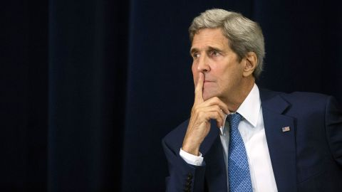 US Secretary of State John Kerry at the State Department. Here's a look back at his long career as a public servant.